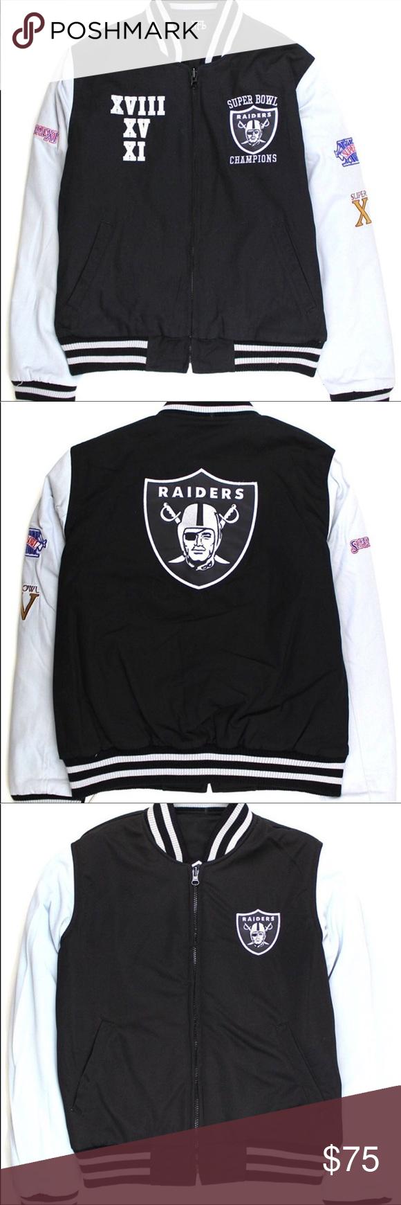 newest 5c5ef 8c0df Reversible Oakland Raiders Zip Up Jacket Reversible, Thick ...