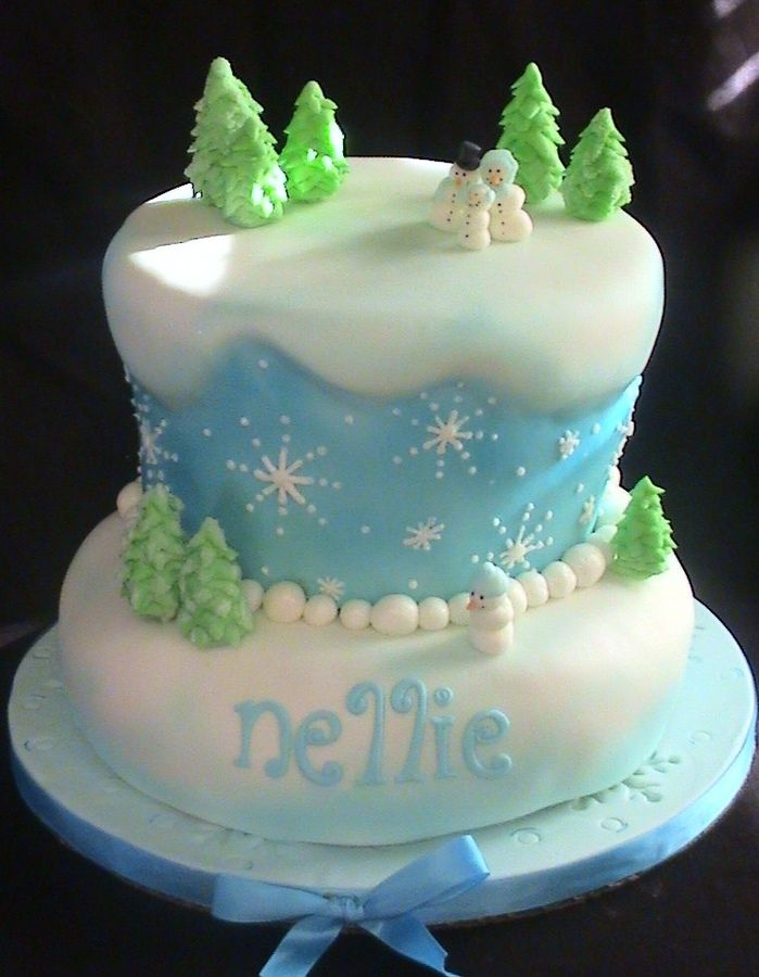 cake for a December birthday all fondant thanks for looking