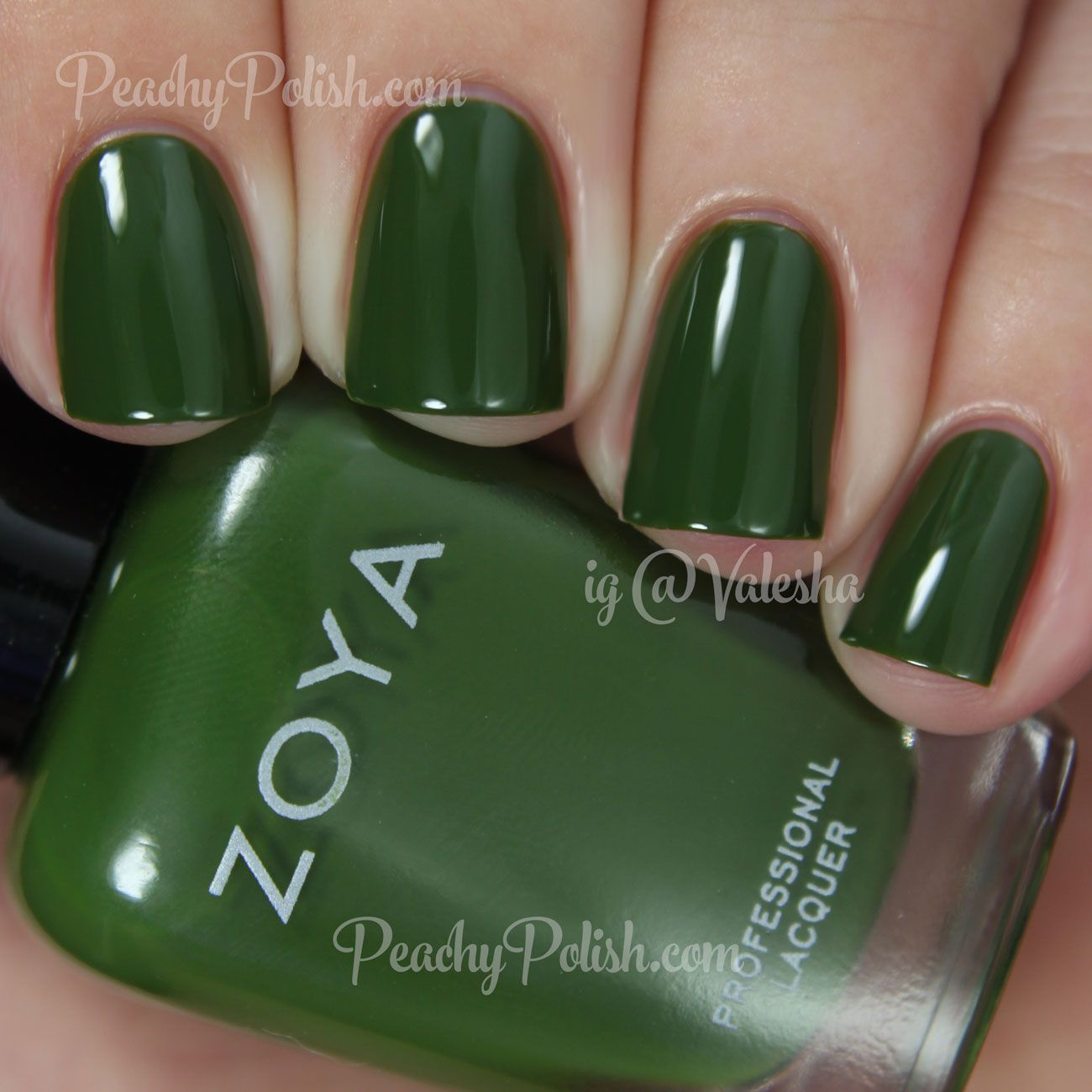 Ness, a lovely, soft jade green nail polish / lacquer from the Zoya ...