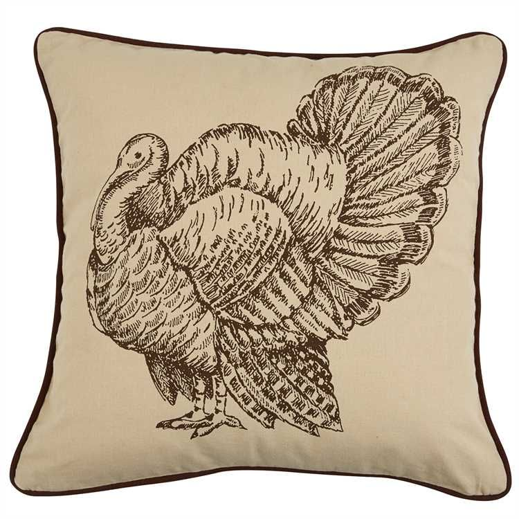 Turkey Print Feather Pillow 20 Feather Pillows Pillows Printed Pillow