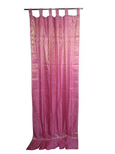 Brocade Home Decor moroccan style home decor pink gold brocade indian sari curtains