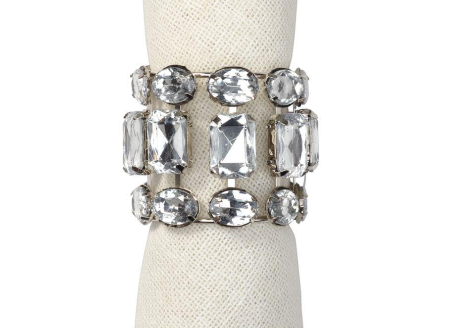 Brilliant Napkin Ring Set Of 4 Napkin Rings