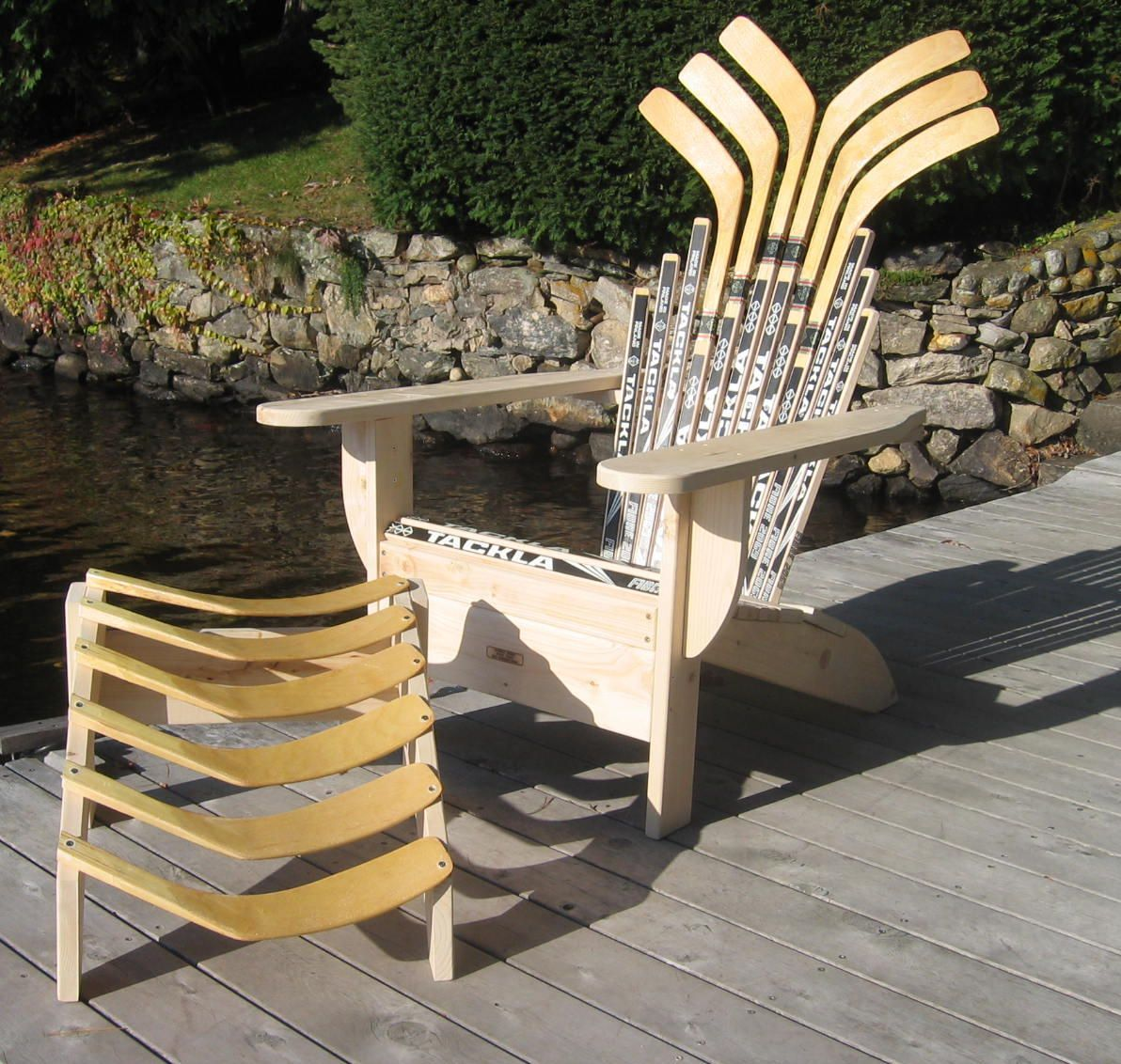 BarDown: How To Build Hockey Stick Furniture; Is This Awesome Or It This  Awesome?!