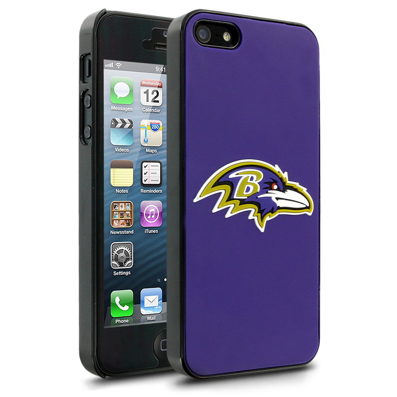 NFL Baltimore Ravens Hard Case With Logo for Apple iPhone