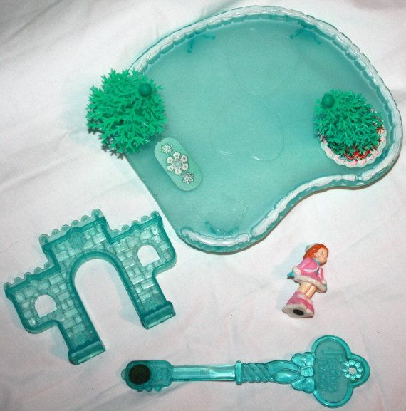 Fisher Price precious places 1989 LOT Ice Skating Pond by Pooyabee