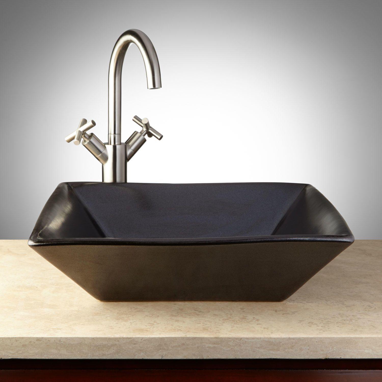 Coverdale Hand-Glazed Pottery Vessel Sink - Metallic Gray | Vessel ...