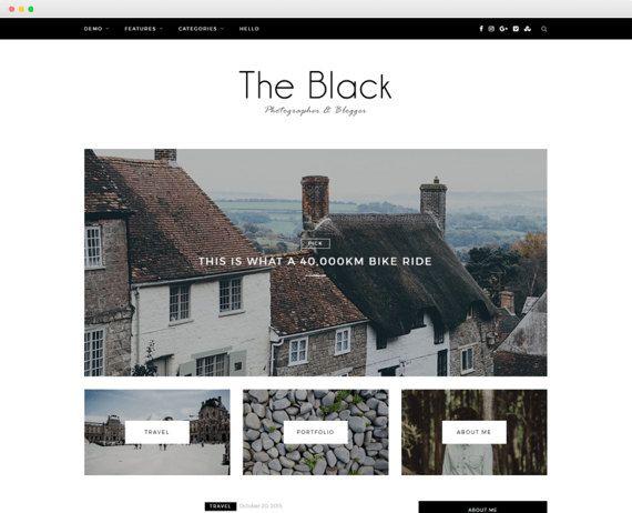 Z-Black - A Beatiful Blog Theme -Wordpress template- Feminine ...