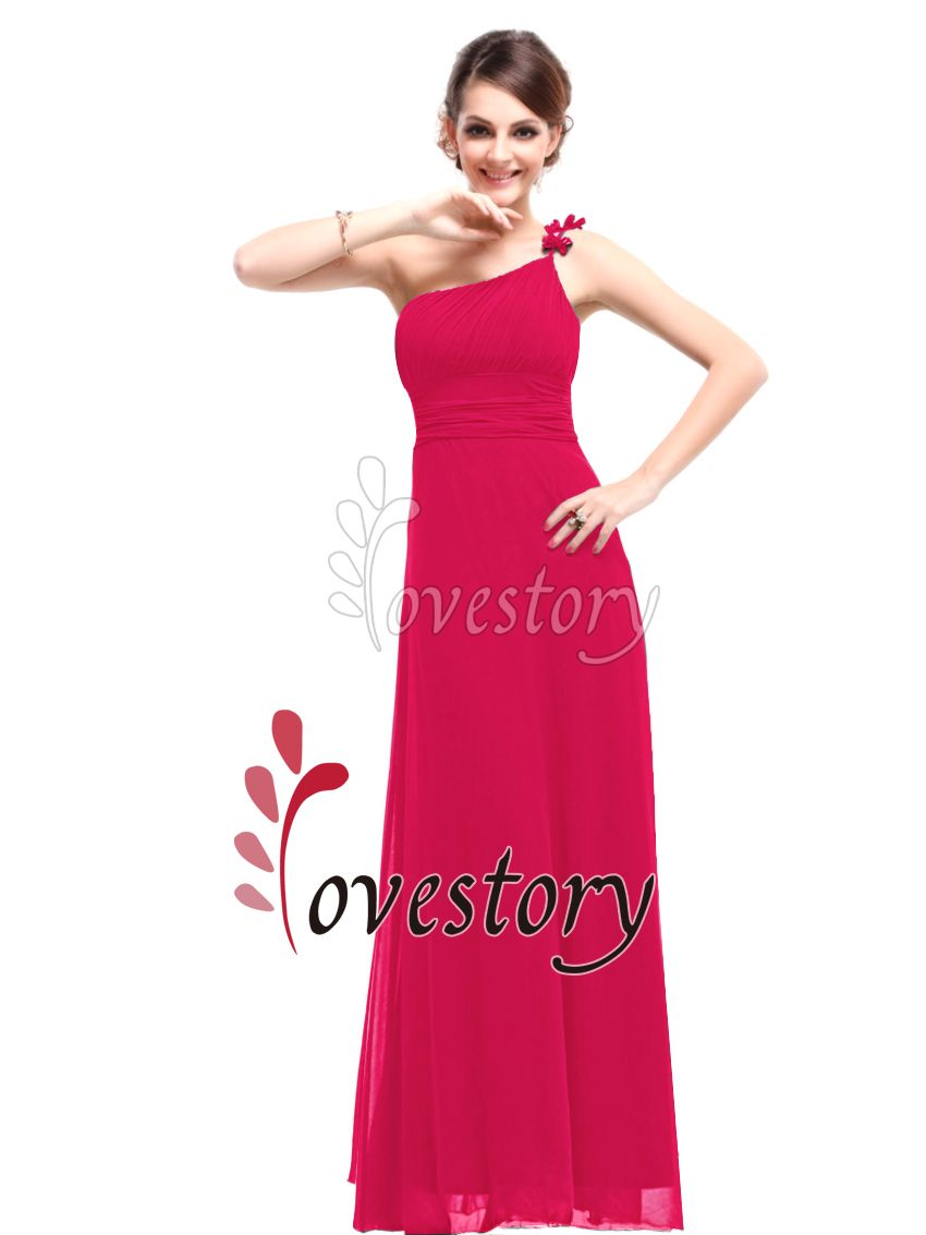 Ever Pretty One Shoulder Long Chiffon Bridesmaid Formal Evening
