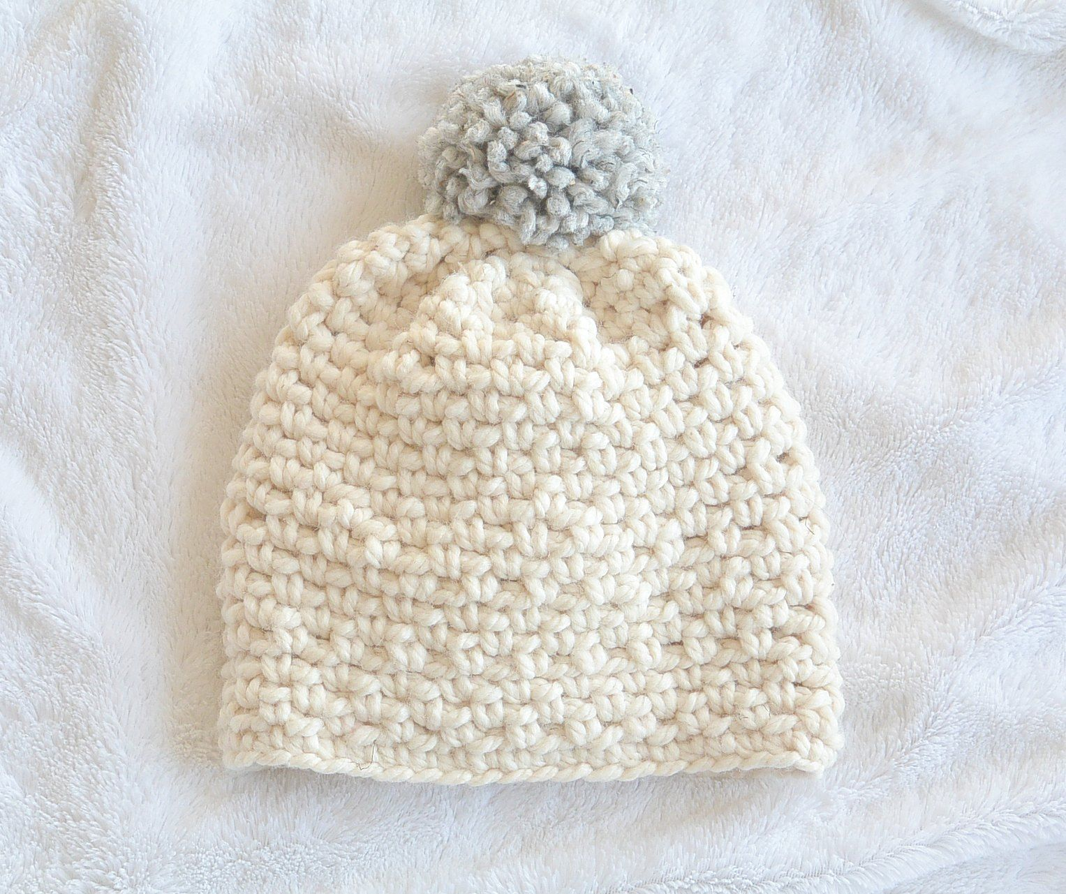Ski Lodge Chunky Crochet Pom Hat Pattern | Sea Haute Crochet Hats ...