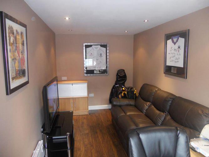 Partial Garage Conversion Into Small Rec Space Remodel Bedroom