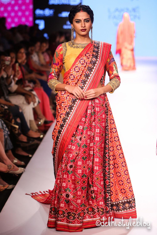 Gaurang Shah Lfw Aw15 Samyukta Varanasi Handloom Blouse Design Models Fashion Indian Dresses