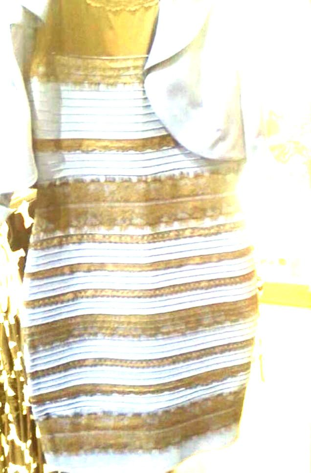Yellow and gold dress illusion picture