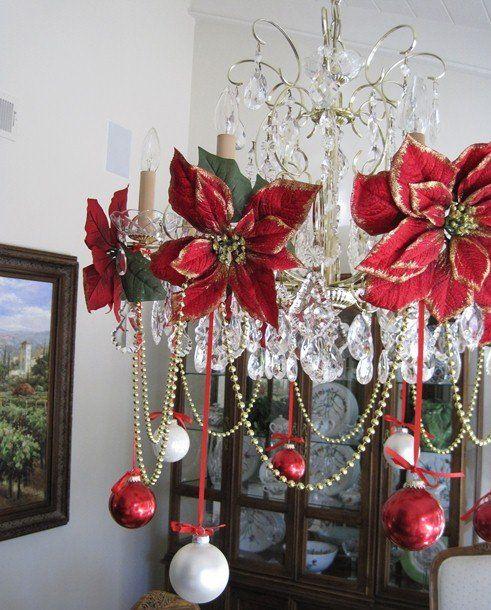25 Amazing Christmas Decor Ideas Christmas Chandelier Decor