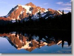 18989 * Evening Light, Mt Shuksan, Washington