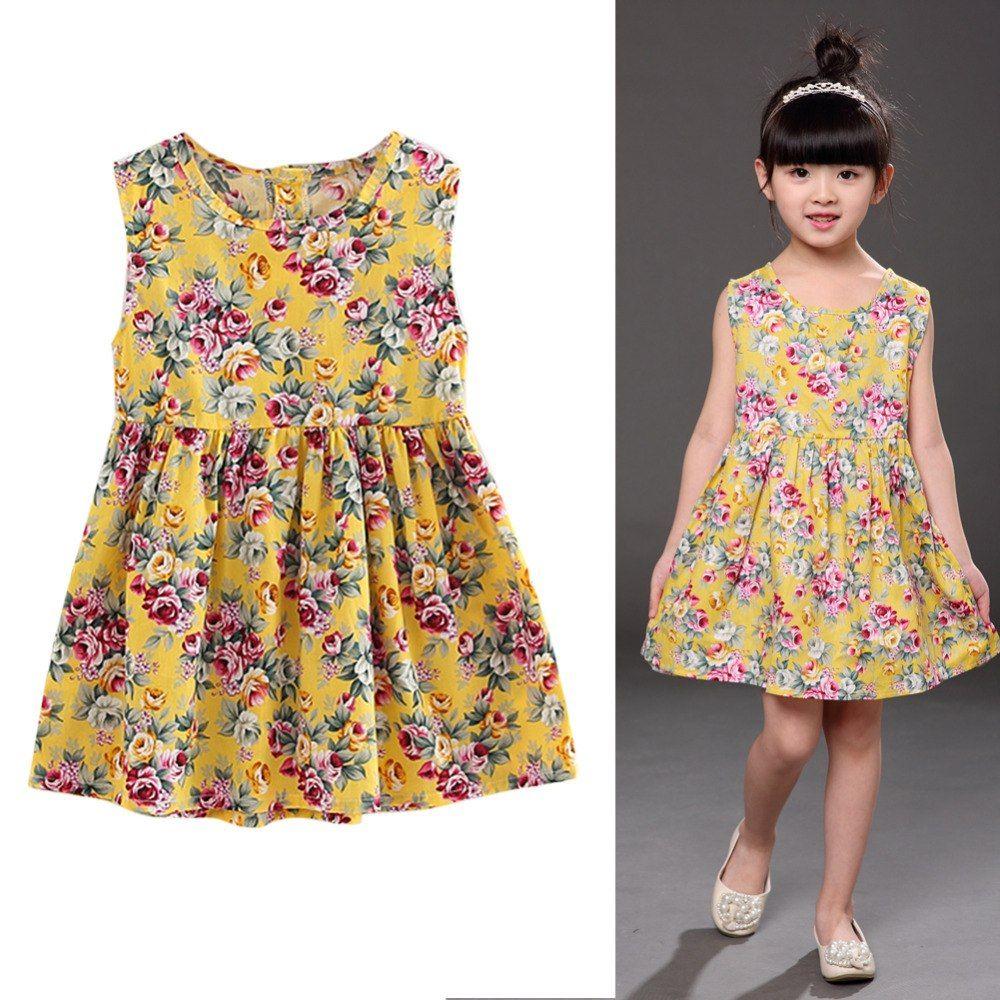 Baby Girl Summer Sleeveless Cotton Dress Baby Gear City Kids Summer Dresses Dresses Kids Girl Girls Dresses Summer [ 1000 x 1000 Pixel ]