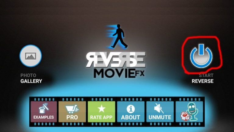 We can make reverse video with your android mobile