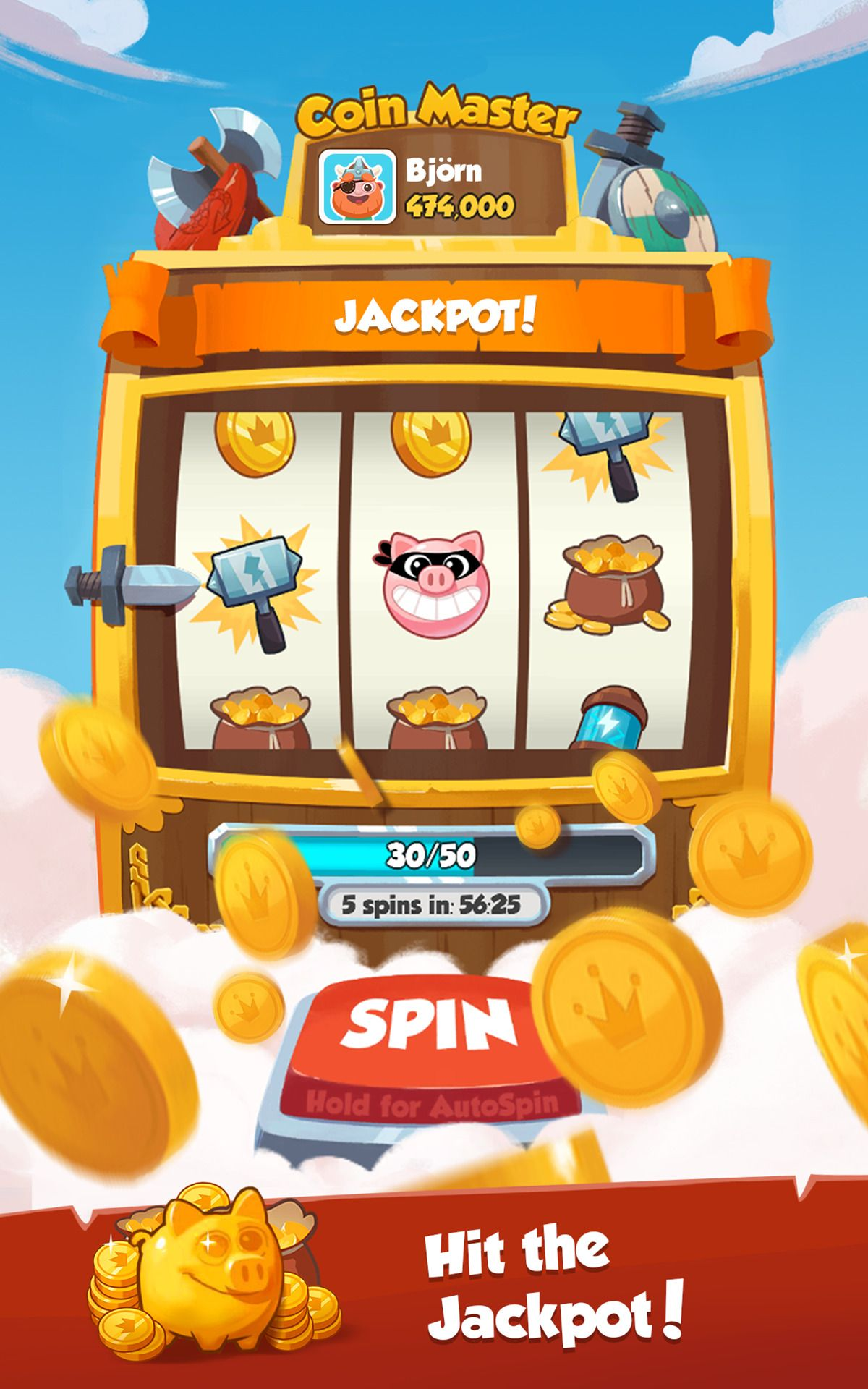 free coins and spins for coin master game