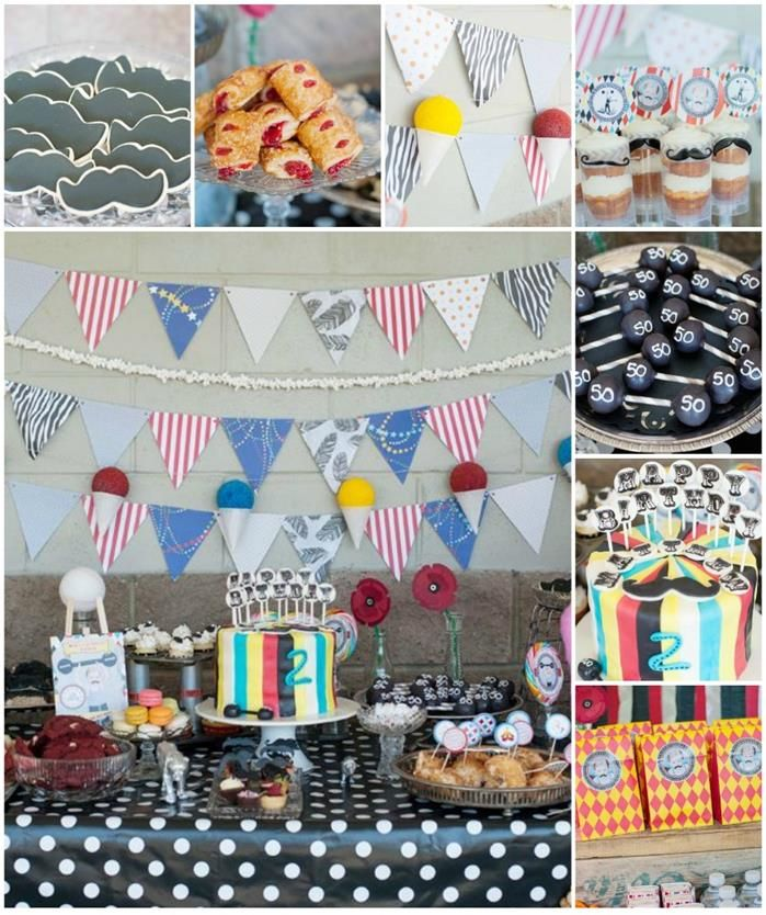Vintage Circus Strongman Birthday Party Planning Ideas Supplies Idea I Like The Pendent