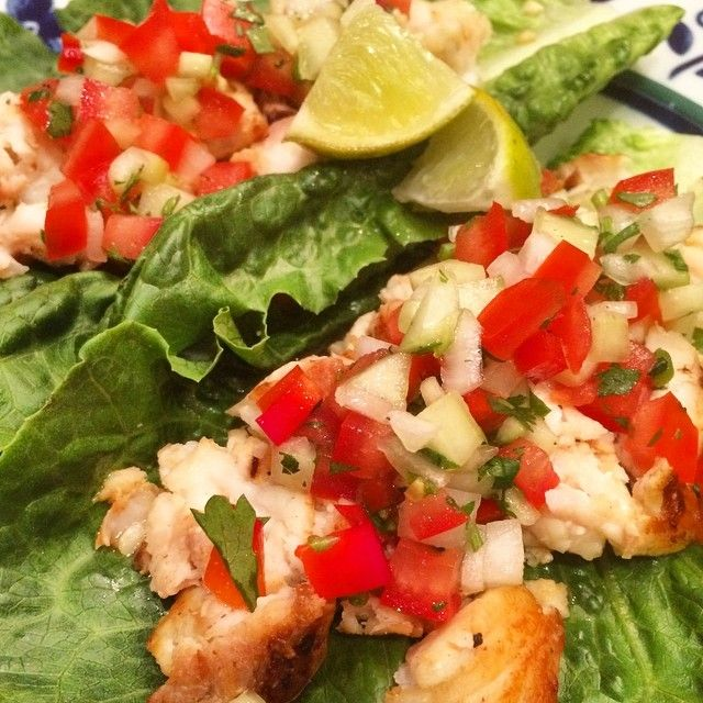 Lettuce Wrapped Fish Tacos! Easy, Healthy, Yummy! Recipe