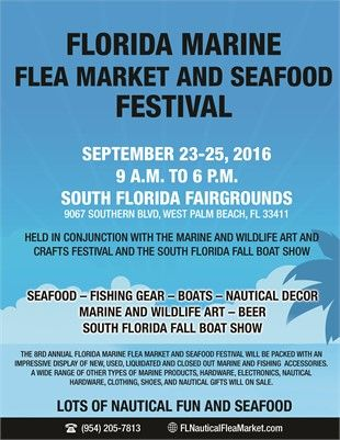 Marine Bargains Galore Florida Flea Market And Seafood Festival 2016