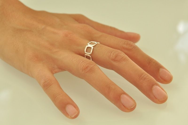 Square Sterling Silver Ring from Liat Waldman Jewelry by DaWanda.com www.liatwwaldman.com