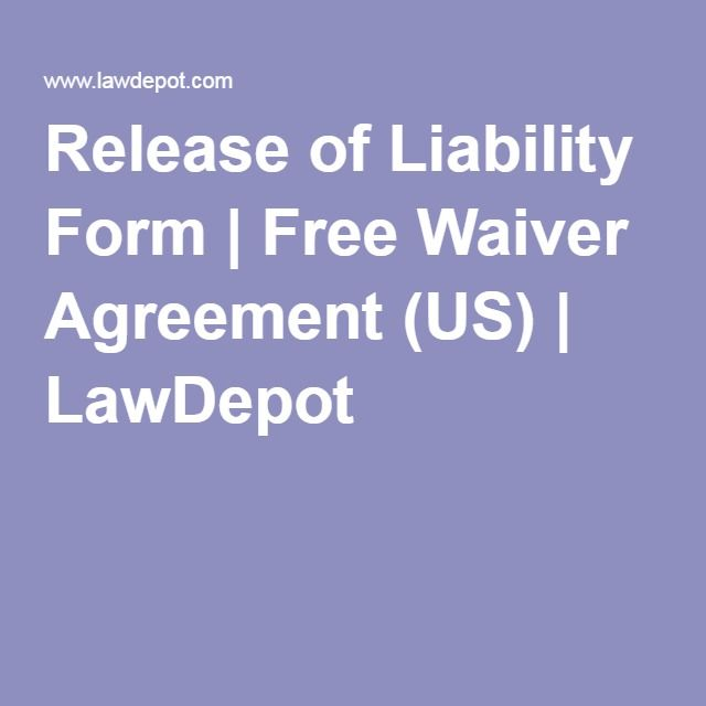 Release Of Liability Form Free Waiver Agreement Us