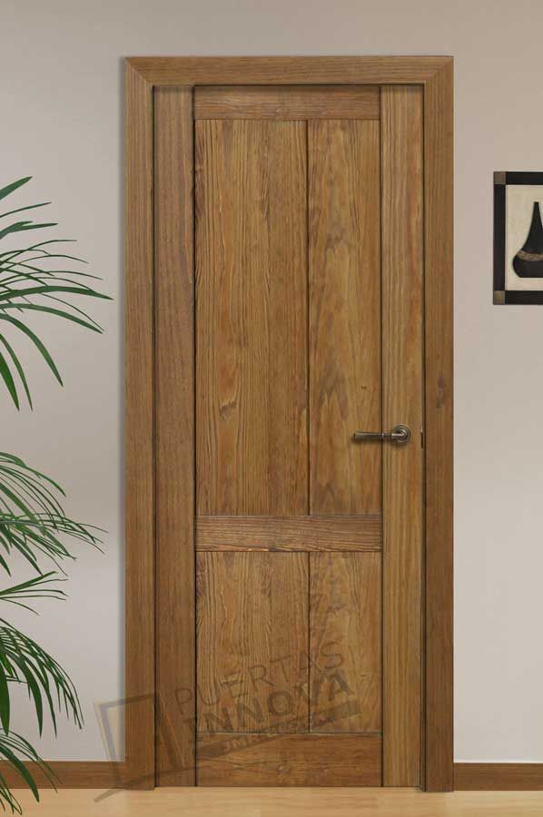 Puerta Interior Rústica Modelo 4c Puertas Innova S L U Puertas De Madera Rusticas Puerta Interior Puertas Interiores De Madera