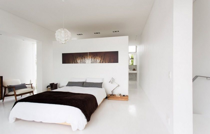 Dise o de casa angosta fachada y dise o de interiores - Dormitorio diseno moderno ...