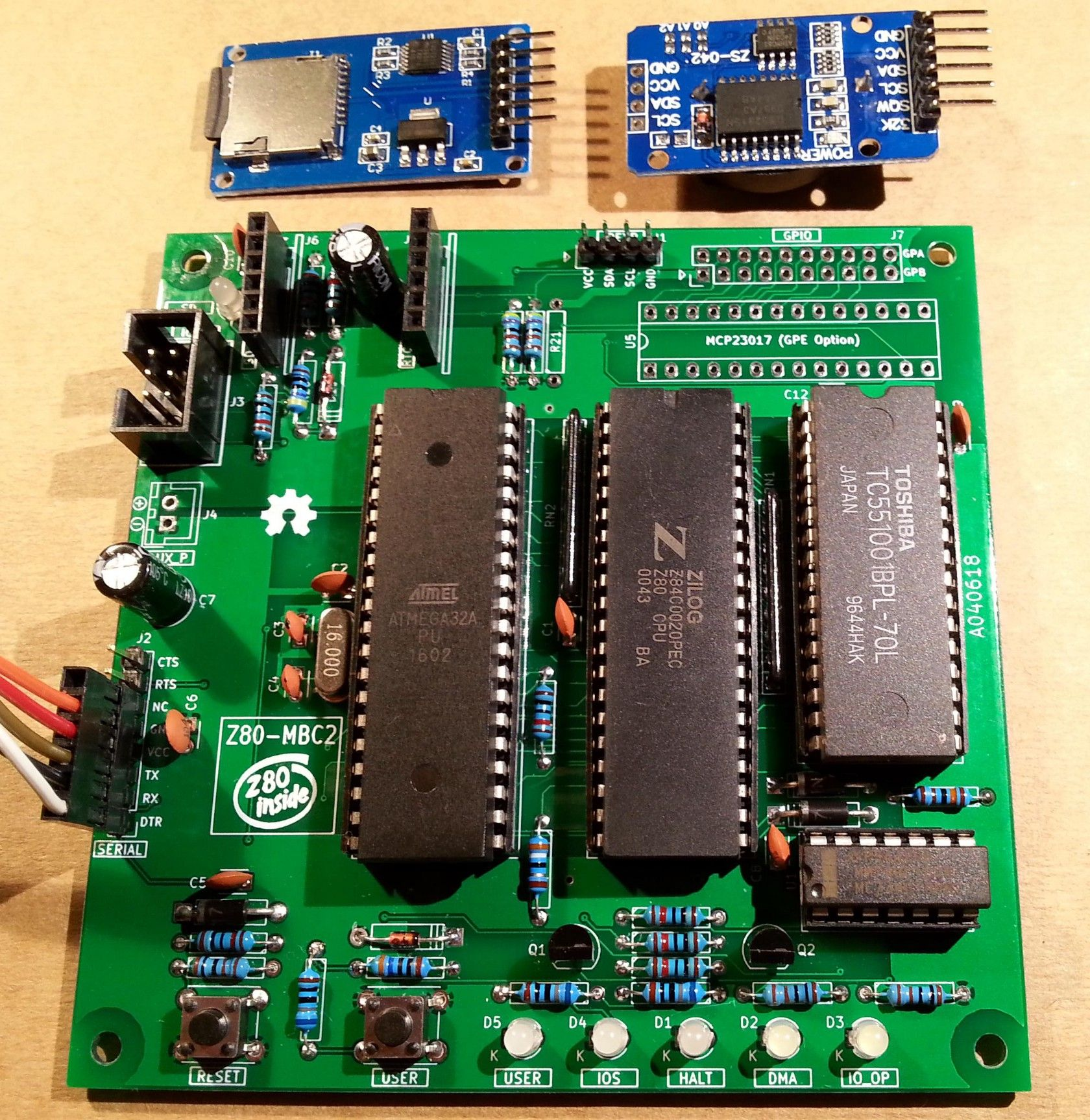 Z80-MBC2: An Easy to Build Retro Z80 Computer in SBC Form