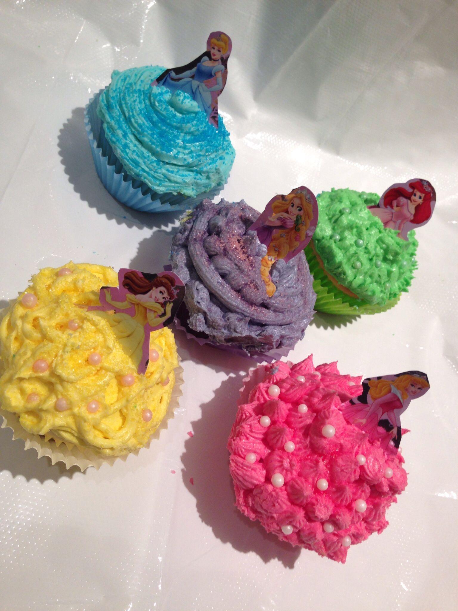 Disney princess cupcakes birthday cake kids diy