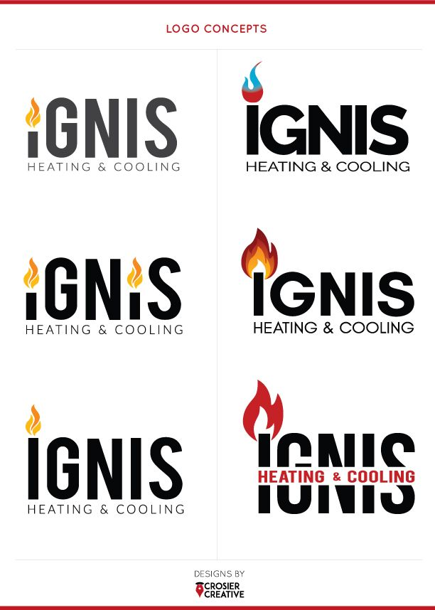 Ignis Heating Cooling Brand Concepts By Crosiercreative