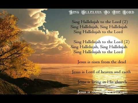 Sing Hallelujah To The Lord Acclamation Hymn Studio Version Music