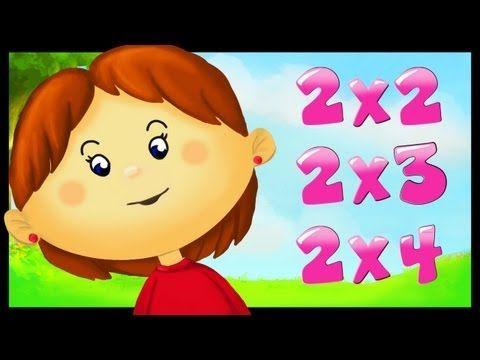 Tables de multiplication en chanson 2 3 4 5 6 7 8 et 9 en for Table fois 6