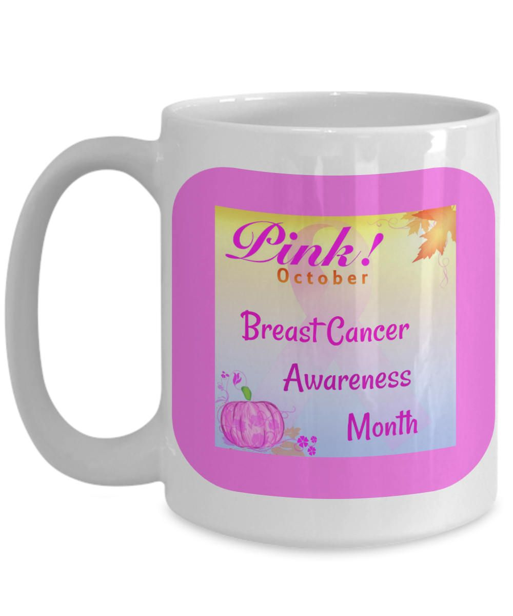 Breast Cancer Awareness Month, October, Pink Ribbon, Coffee Gift Mug ...