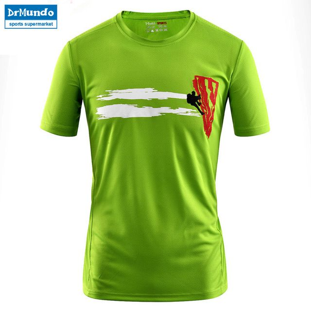 8b6695c3f8ebc Men s Summer Outdoor Hiking Fast Drying Breathable T-shirts Short Sleeve  Sports Gym Top Running