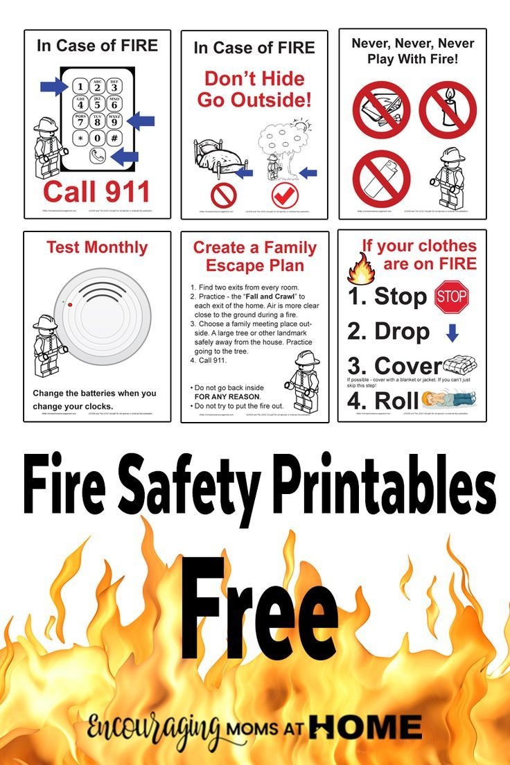 October is Fire Safety month! Take a look at these FREE