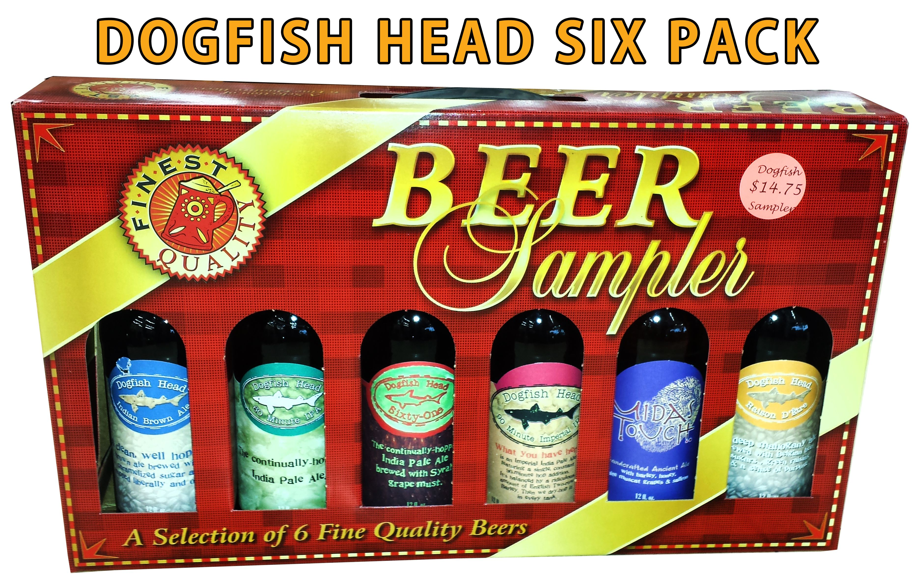 This Is Awesome Sixpack Dogfishhead I Am Not Crying I Just Have Something In Both My Eyes Found At Outlet Liquors Beer Packaging Beer Sampler Beer Gifts