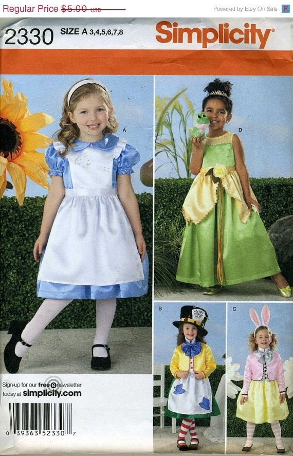 Easter Blitz Simplicity 2330 UNCUT Toddler Alice in Wonderland ...