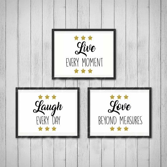 Inspirational wall art quotes inspirational quote printable art set of 3 posters