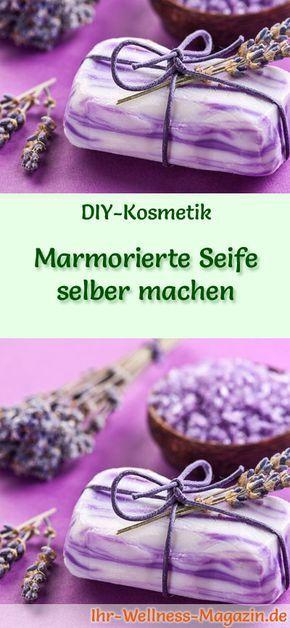 Photo of Marmorierte Seife herstellen – Seifen-Rezept & Anleitung