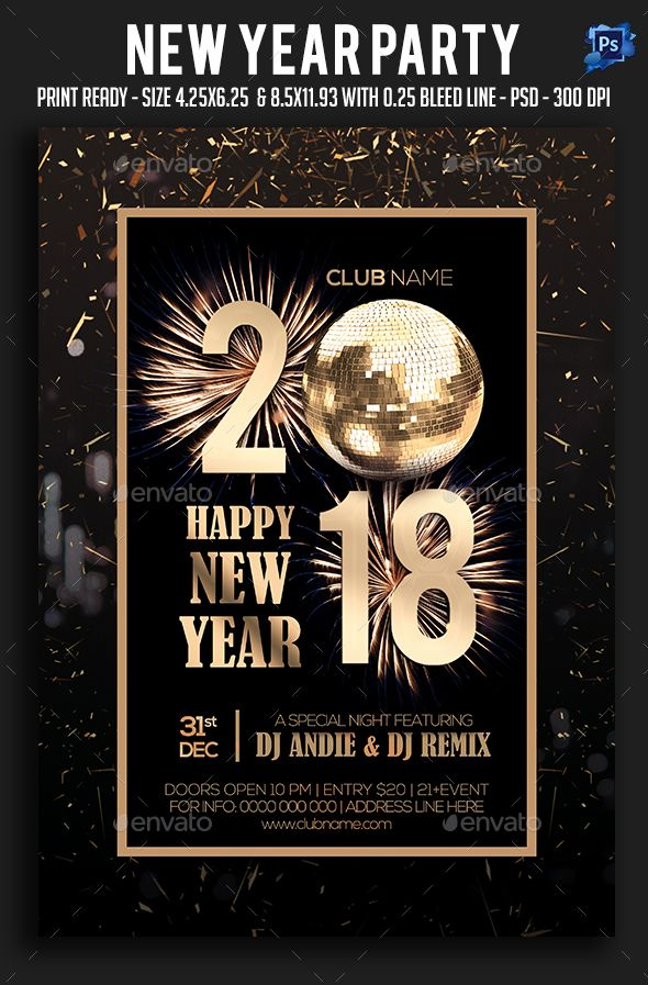 New Year Party Flyer  Party Flyer Flyer Template And Template