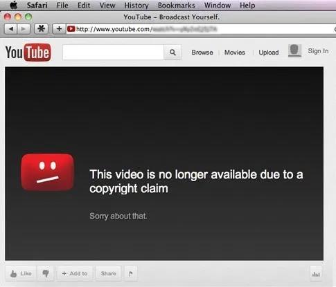 Youtube Copyright Infringement Youtube Videos Youtube History Bookmarks