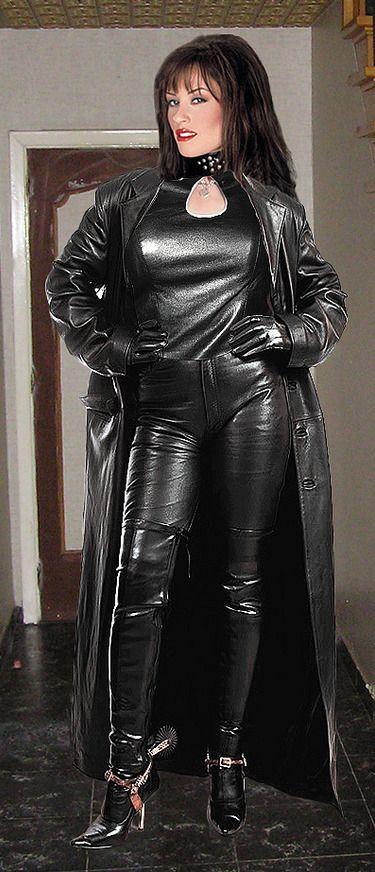 Like black coat in leather long slut shoved their