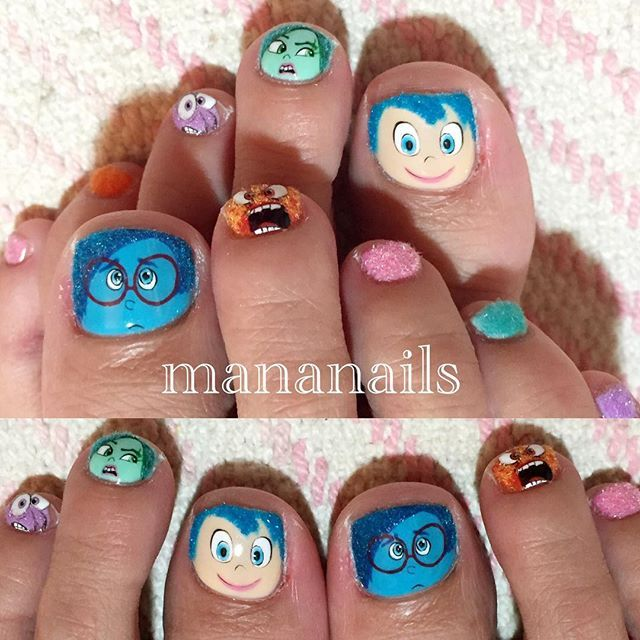 """""""Inside Out . #disney #insideout #インサイドヘッド #ベルベットマテリアル"""" Photo taken by @mananails on Instagram, pinned via the InstaPin iOS App! http://www.instapinapp.com (08/26/2015)"""