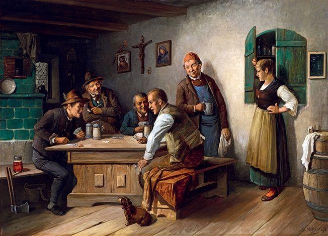 Playing Cards von Konstantin Stoitzner 1883