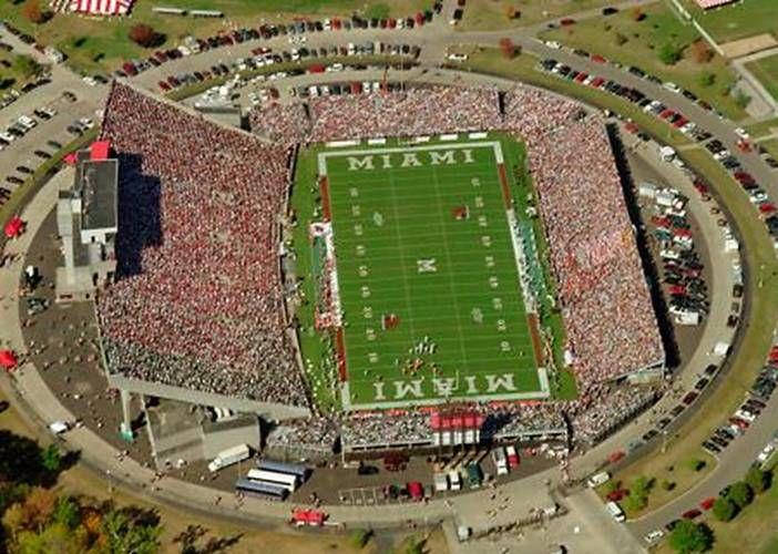 Miami University Redhawks Aerial View Of Fred C Yager Stadium Football Miami Ohio University Of Miami College Football