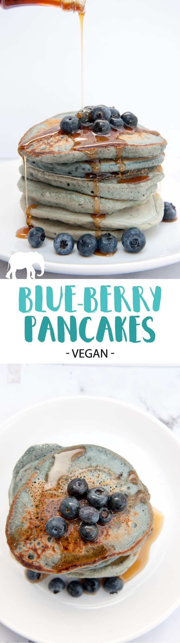 Pancakes - These naturally colored pancakes are perfect for kids! |