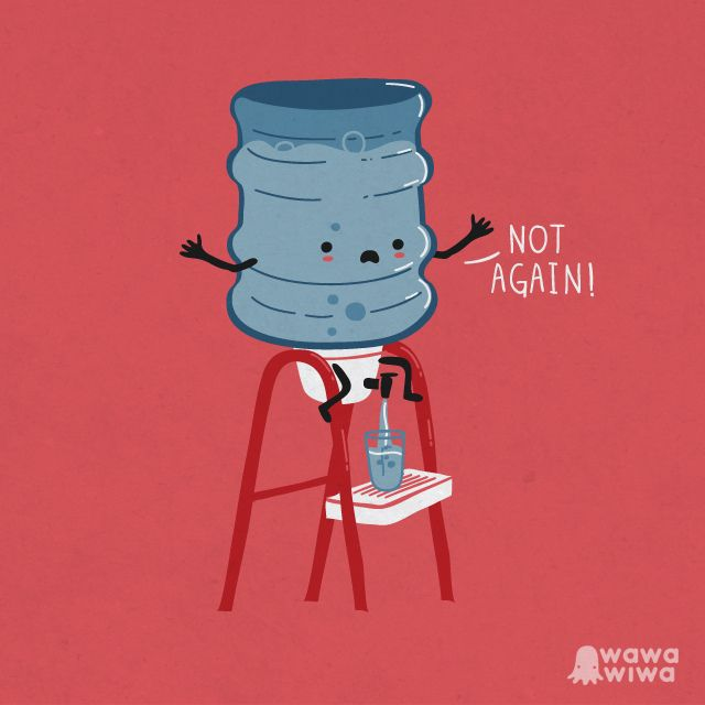 New Funny Illustration Not again Not again by Wawawiwa design, via Flickr 1