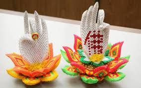 Lotus Flowers Flower Tutorial Paper Craft 3d Origami Buddha