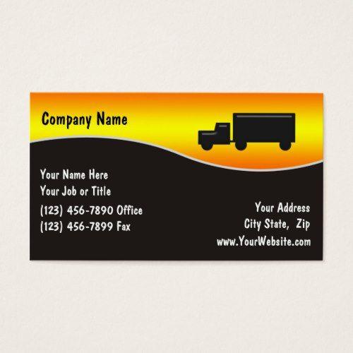 Trucking Business Card Zazzle Com Trucking Business Business Cards Business